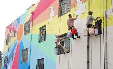 产品:幼儿园外墙彩绘 - 佳木斯佳艺墙体手绘 - 35ba.